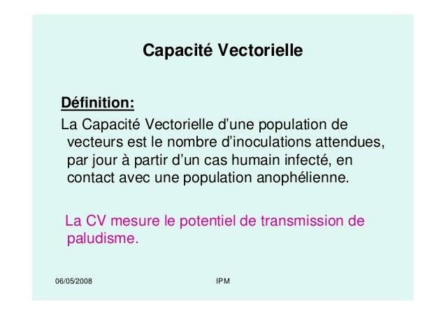 capacit u00e9 vectorielle et competence vectorielle des anoph u00e8les