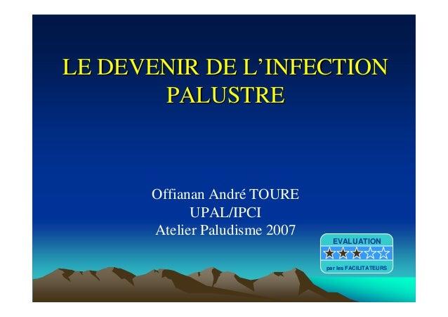 LE DEVENIR DE LLE DEVENIR DE L''INFECTIONINFECTIONPALUSTREPALUSTREOffianan André TOUREUPAL/IPCIAtelier Paludisme 2007EVALU...