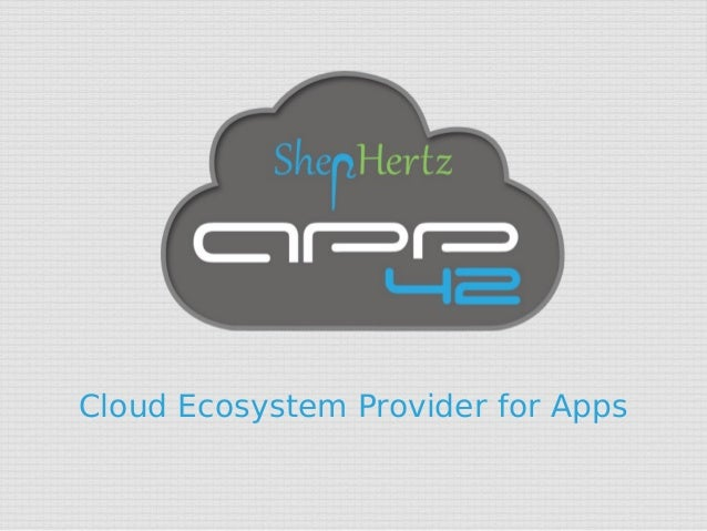 Cloud Ecosystem Provider for Apps