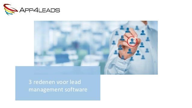 3 redenen voor lead management software
