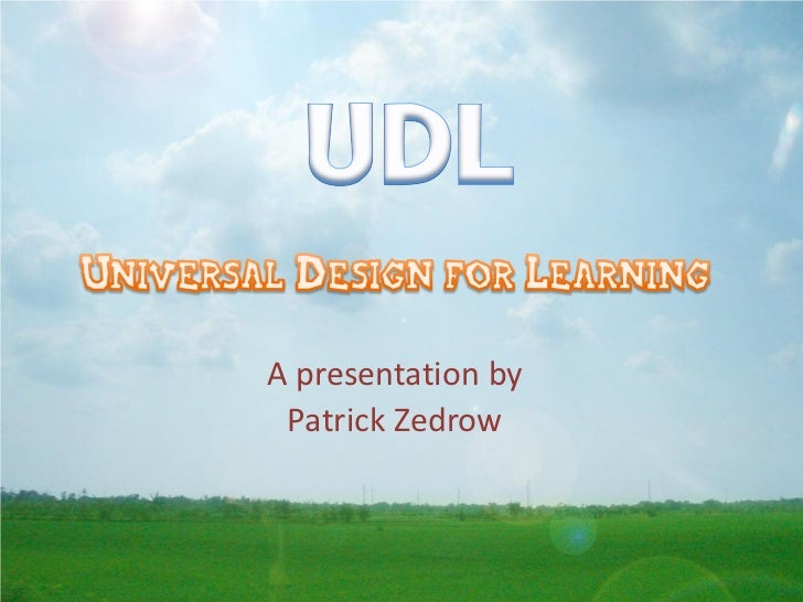 A presentation by Patrick Zedrow