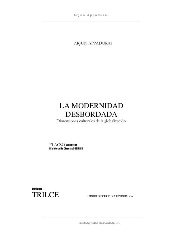 MODERNIDAD DESBORDADA APPADURAI DOWNLOAD