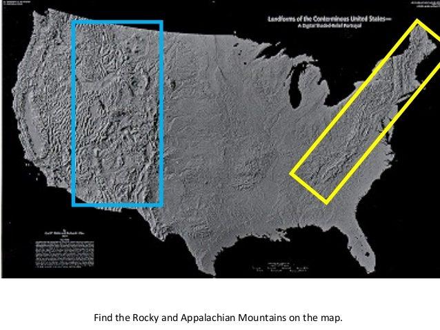 Appalachian And Rockies On Us Map - Appalachian and rockies on us map