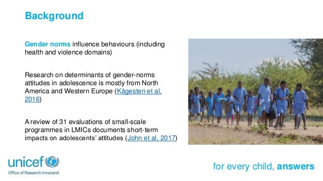 Impacts of a Cash Plus Intervention on Gender Attitudes Among Tanzanian Adolescents Slide 3