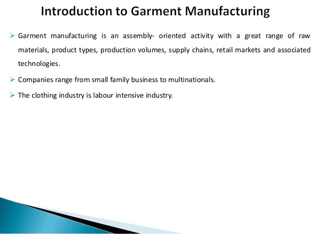 ppt full form in garment industry introduction to garment manufacturing