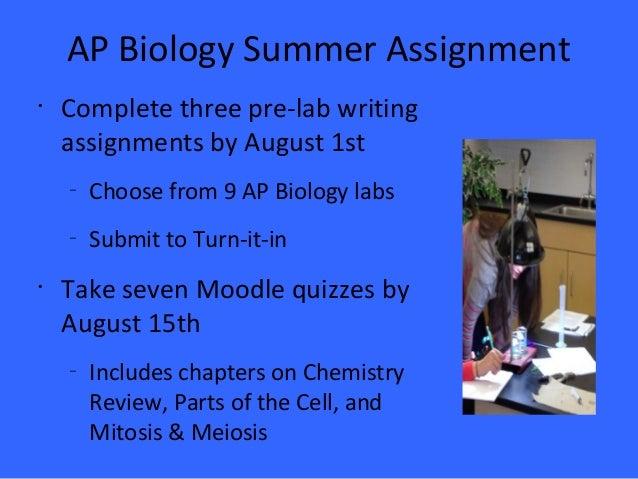Ap biology homework help