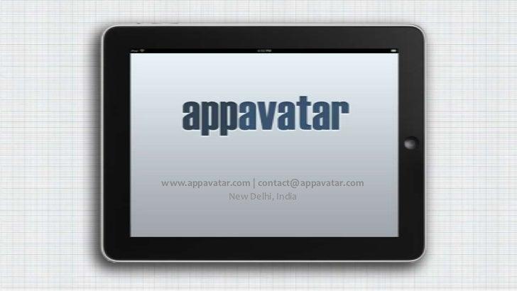 www.appavatar.com   contact@appavatar.com<br />New Delhi, India<br />