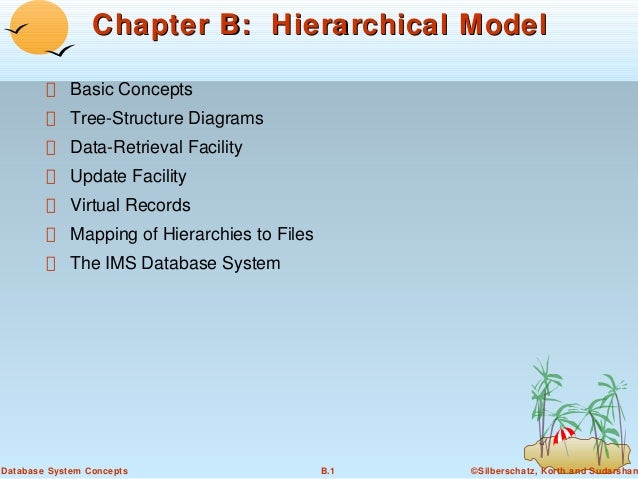 Chapter B: Hierarchical Model Basic Concepts Tree-Structure Diagrams Data-Retrieval Facility Update Facility Virtual Recor...