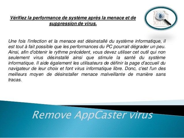 Vérifiez la performance de système après la menace et de suppression de virus.  Une fois l'infection et la menace est dési...