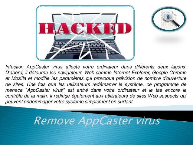 Supprimer les virus AppCaster - Comment faire pour supprimer le virus AppCaster Slide 3