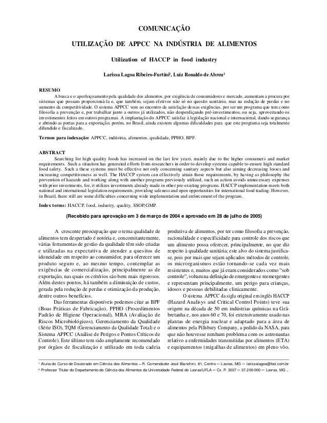 RIBEIRO-FURTINI, L. L. & ABREU, L. R. de358 Ciênc. agrotec., Lavras, v. 30, n. 2, p. 358-363, mar./abr., 2006 COMUNICAÇÃO ...