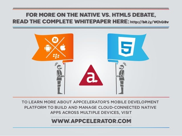 http://bit.ly/VChQ8vTO LEARN MORE ABOUT APPCELERATOR'S MOBILE DEVELOPMENT PLATFORM TO BUILD AND MANAGE CLOUD-CONNECTED NAT...