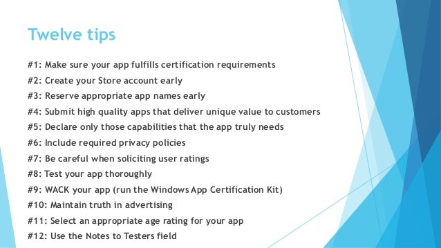Windows Application Certification Tips and Tricks