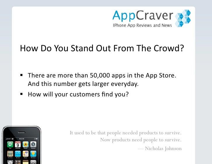 Marketing iPhone Apps on Appcraver Slide 2