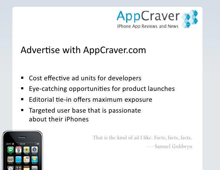 Marketing iPhone Apps on Appcraver Slide 3