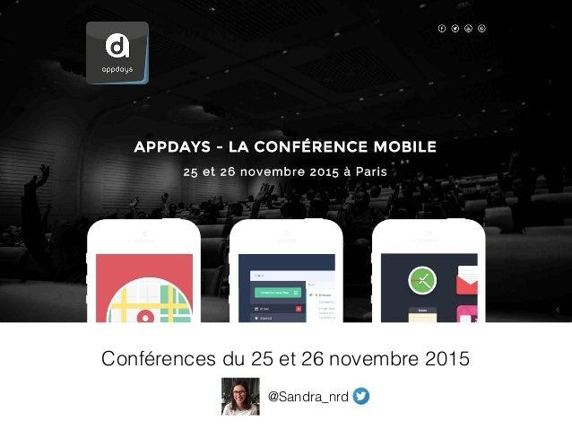 Conférences du 25 et 26 novembre 2015 @Sandra_nrd