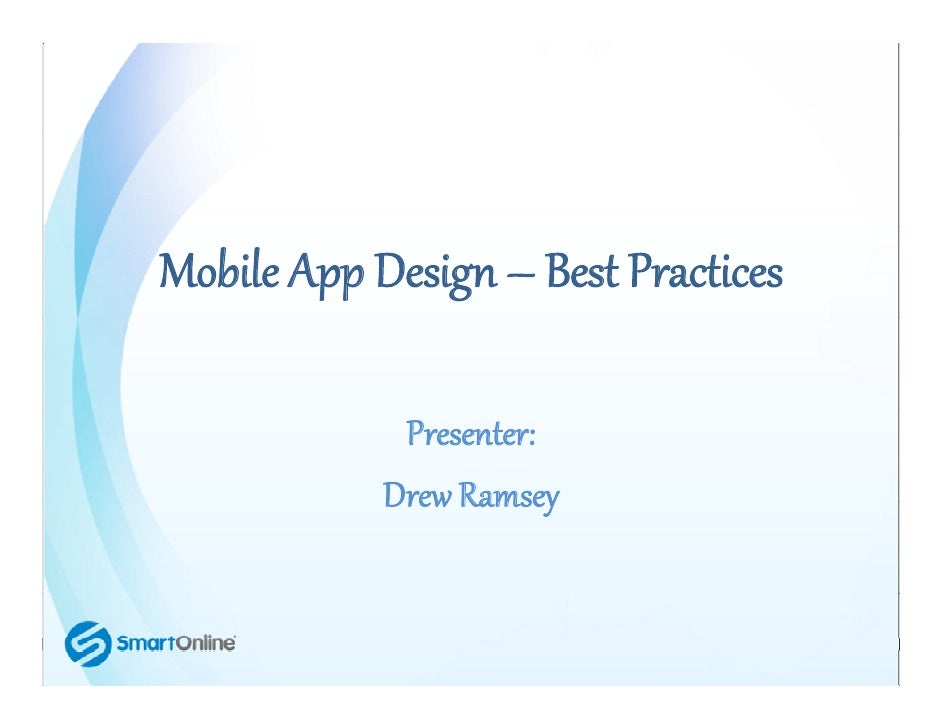 Mobile App Character Design : Mobile app design best practices