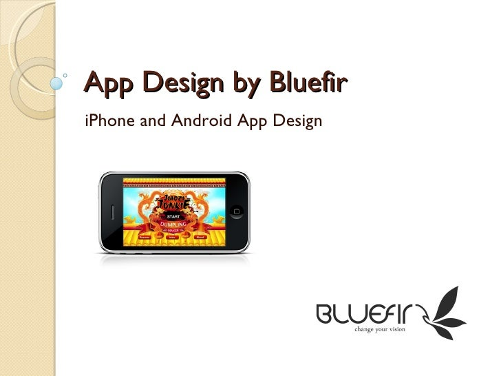 App Design by Bluefir iPhone and Android App Design