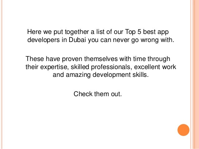 Best dating app in dubai
