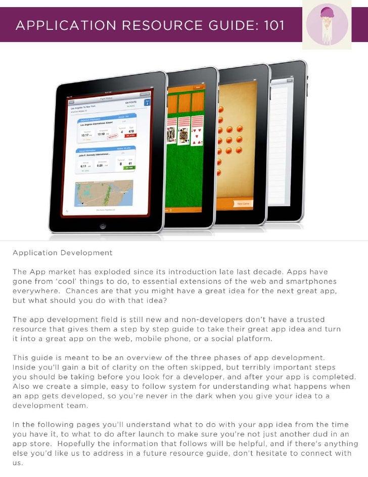 Application Resource Guide 101 by Fandura