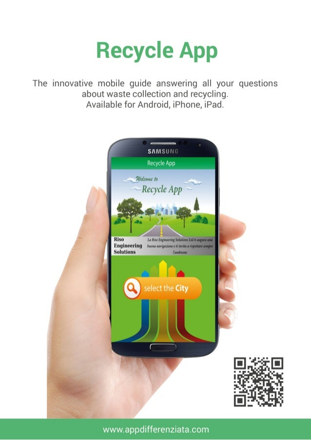 Recycle app the innovative mobile guide for the waste collection an - Recycling mobel ...