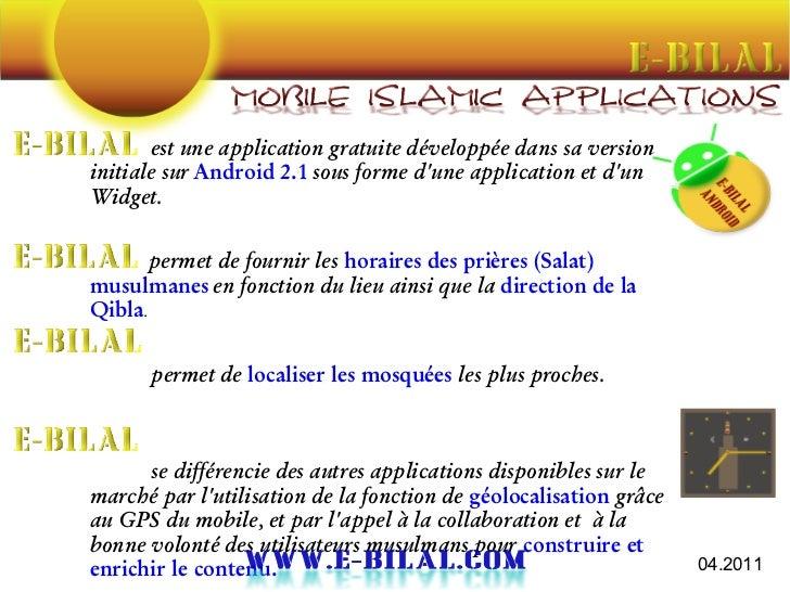 est une application gratuite développée dans sa versioninitiale sur Android 2.1 sous forme dune application et dunWidget. ...