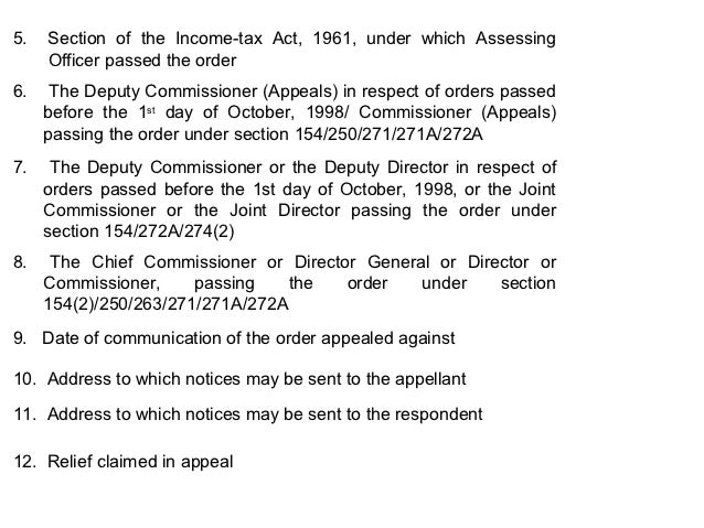 Appeal formatpttl appeals the assessing officer passing the original order 14 5 section of the income tax spiritdancerdesigns Gallery