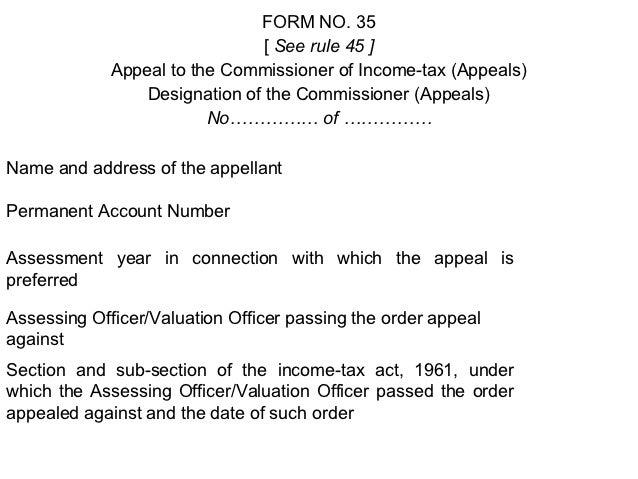 Appeal format depttl  appeals