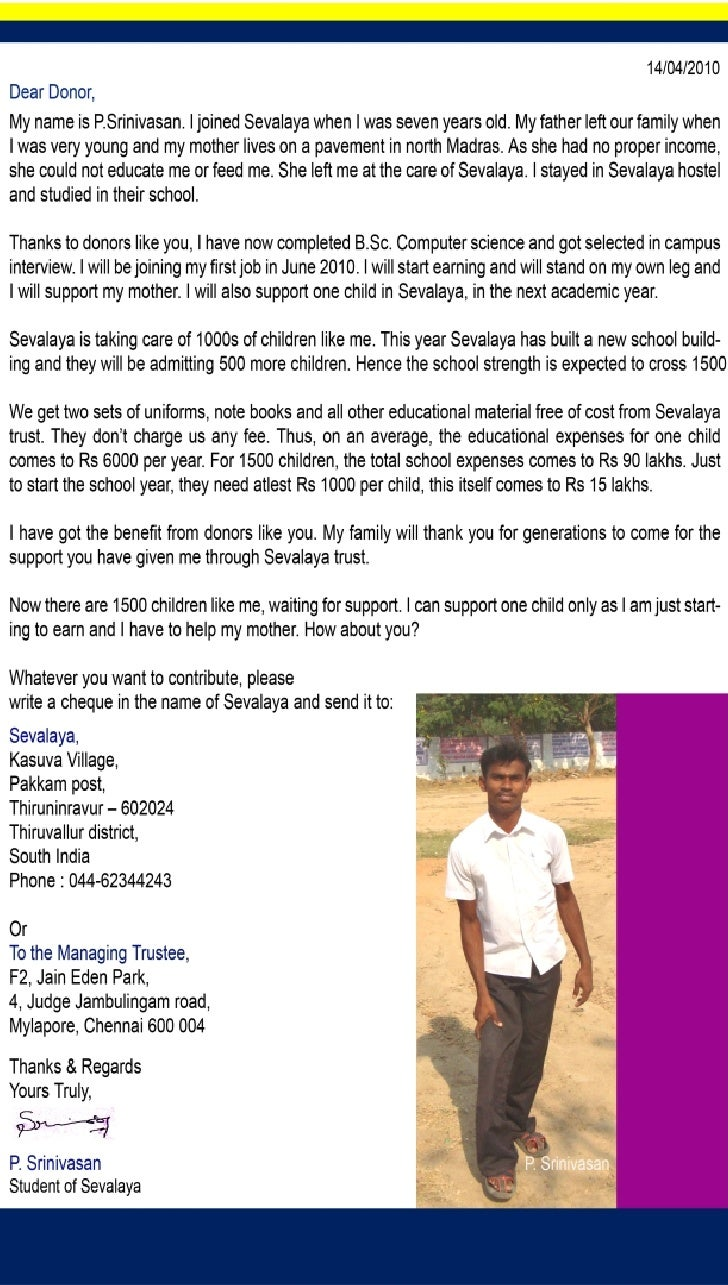 Appeal From Sevalaya Student