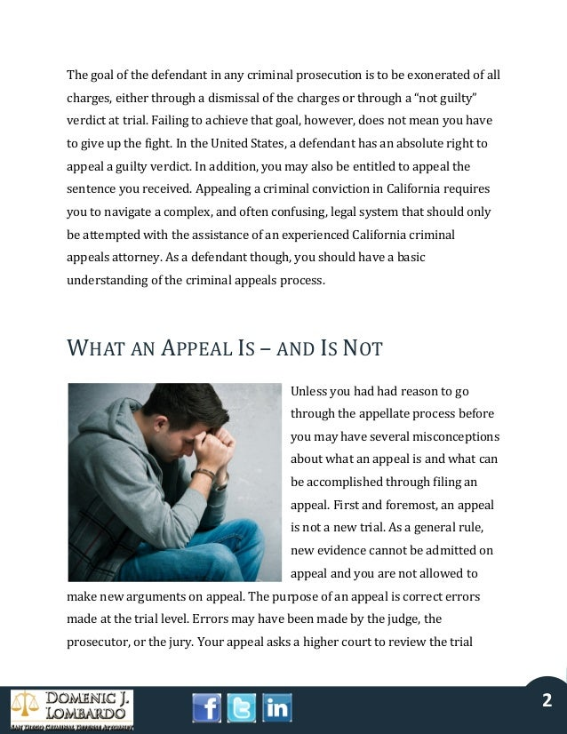 Appealing a Criminal Conviction in California Slide 2