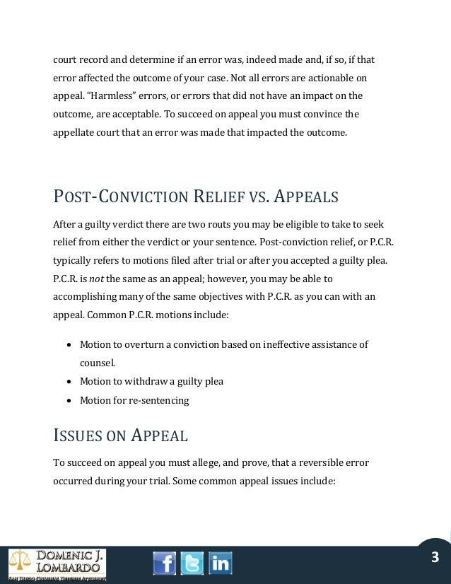 Appealing a Criminal Conviction in California Slide 3