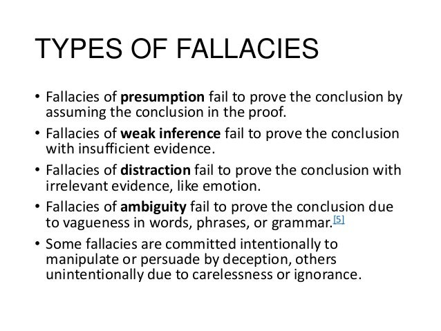 fallacies of presumption examples
