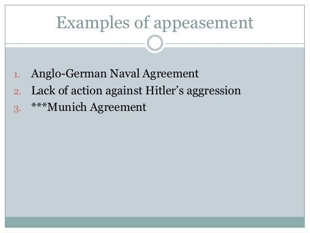 Wwii in europe the policy of appeasement 19 examples of appeasement 1 anglo german naval agreement platinumwayz