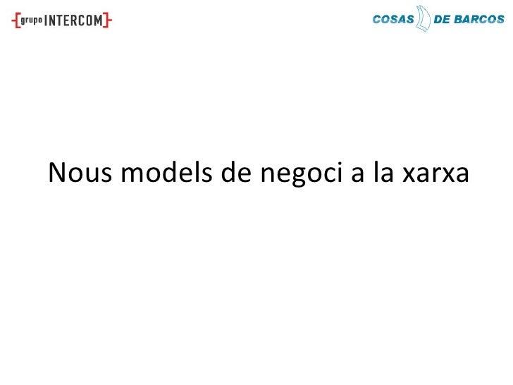 Nous models de negoci a la xarxa