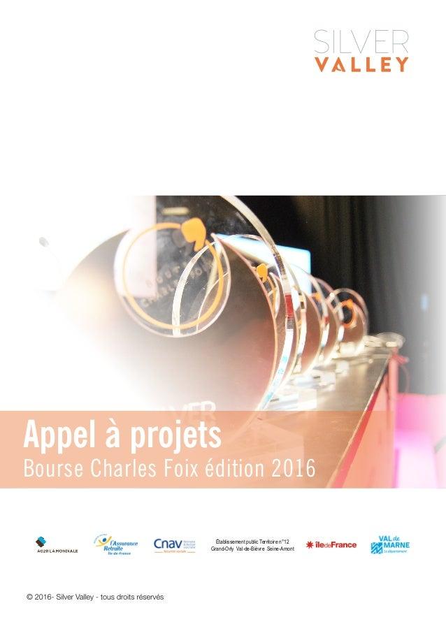 Établissement public Territoire n°12 Grand-Orly Val-de-Bièvre Seine-Amont Appel à projets Bourse Charles Foix édition 2016
