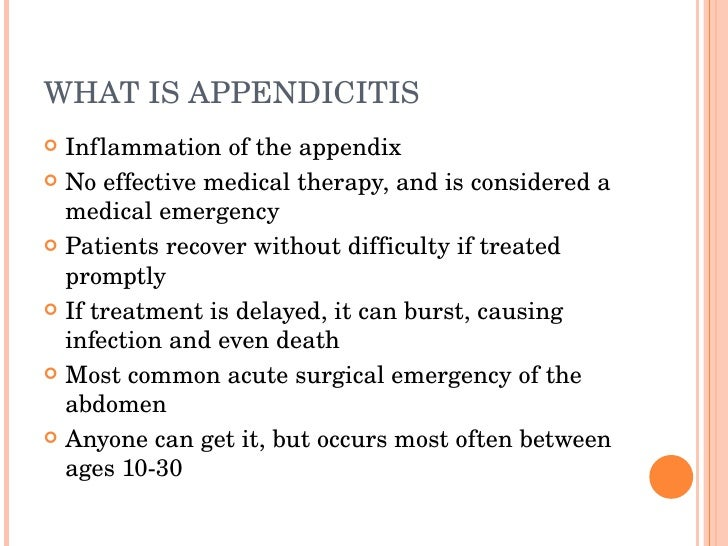 appendicitis, Human Body