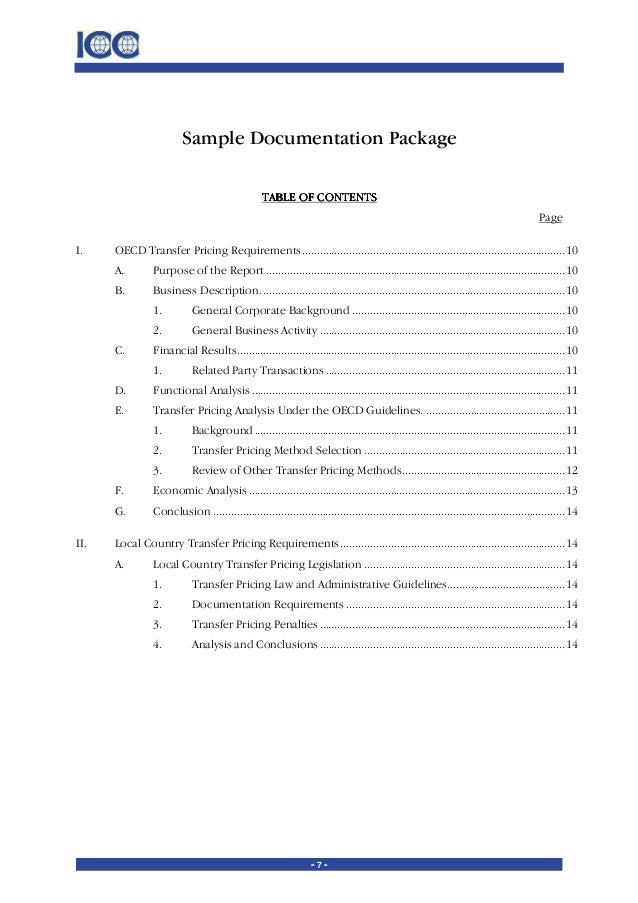 transfer pricing policy template transfer pricing practical manual for developing