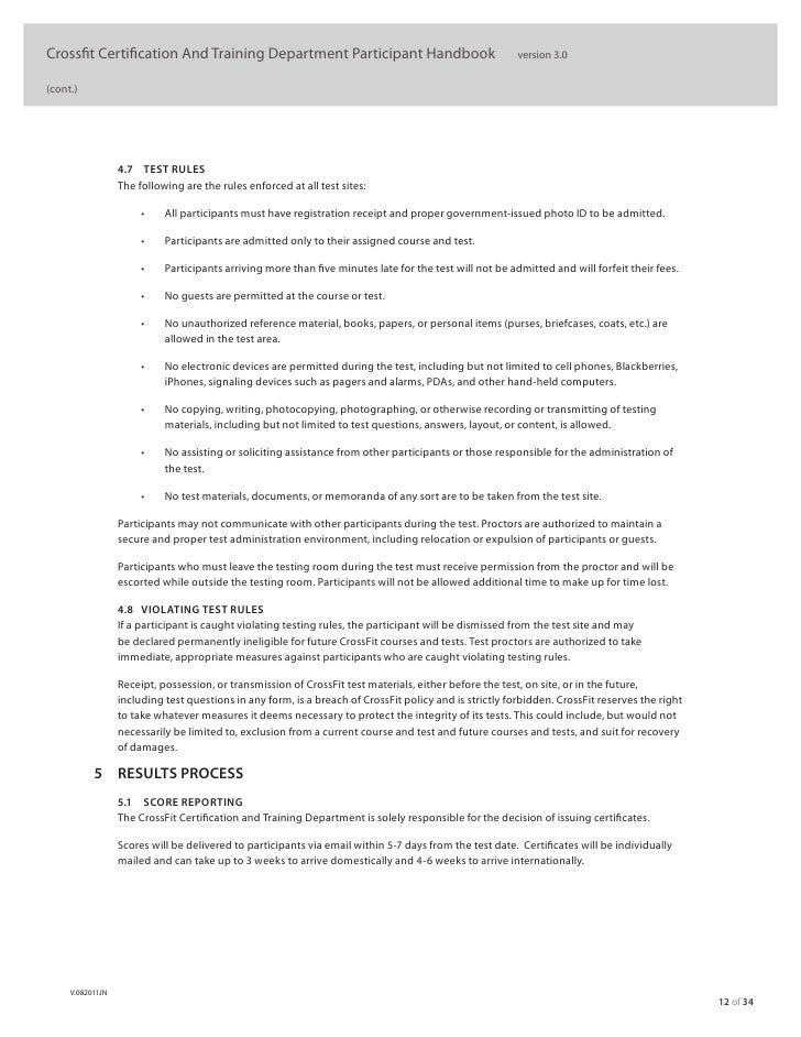 Crossfit Level 1 Official Manual