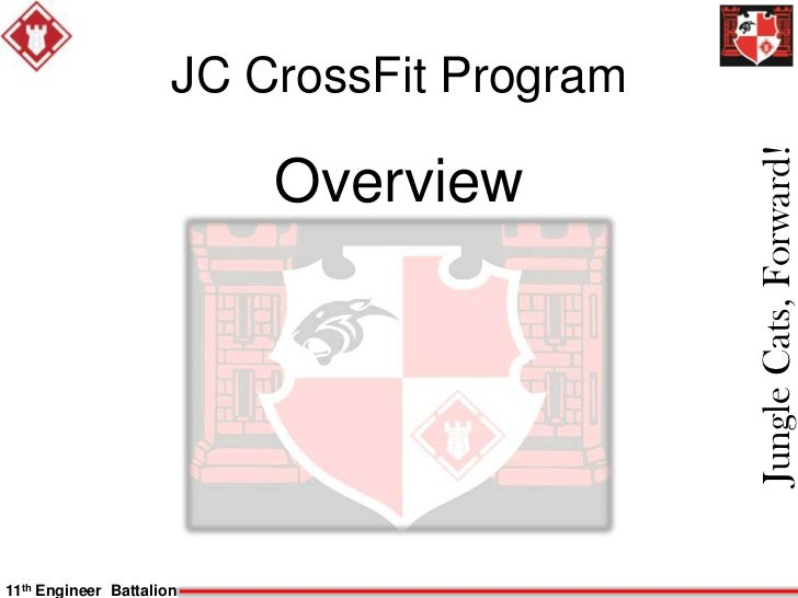 JC CrossFit Program                                            Jungle Cats, Forward!                          Overview11th...