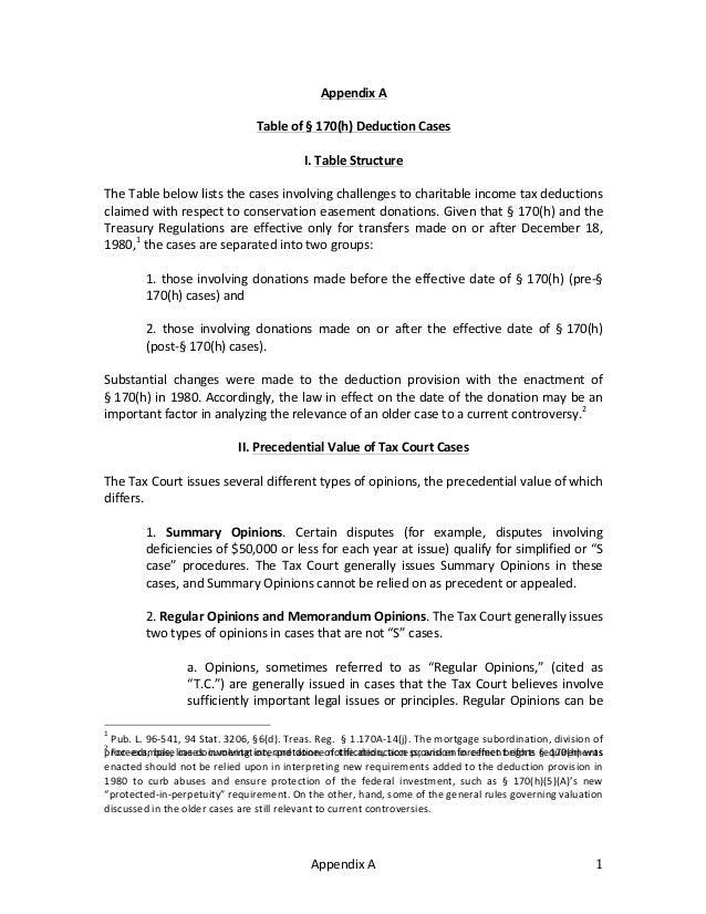 Appendix  A   1   Appendix  A      Table  of  §  170(h)  Deduction  Cases      I.  Table  St...