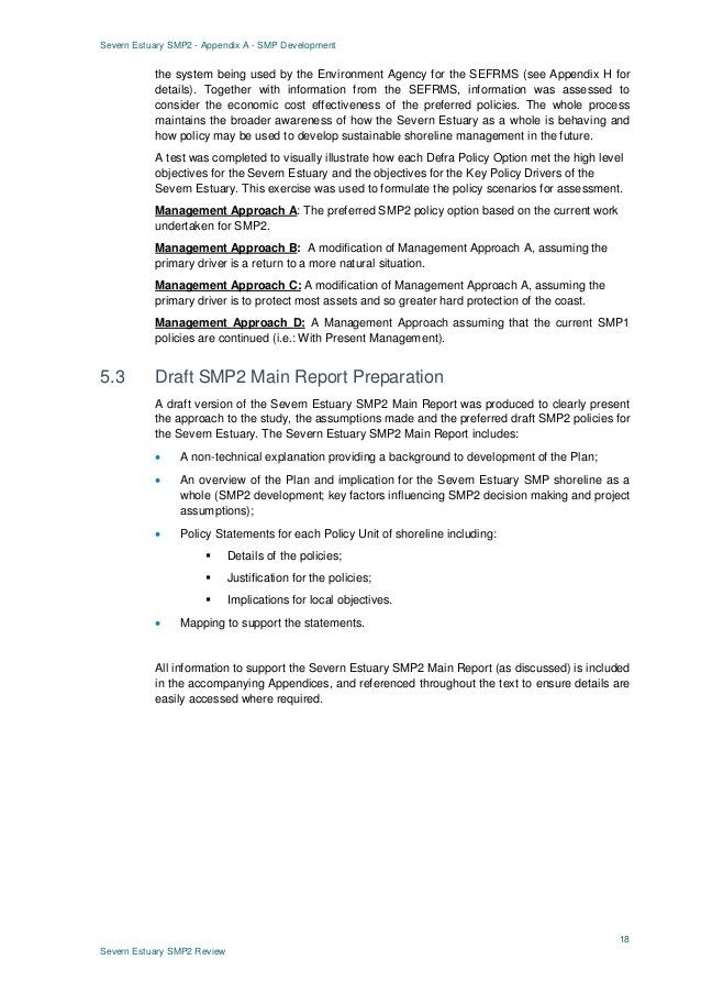 Severn Estuary SMP2 - Appendix A - SMP Development 18 Severn Estuary SMP2 Review the system being used by the Environment ...