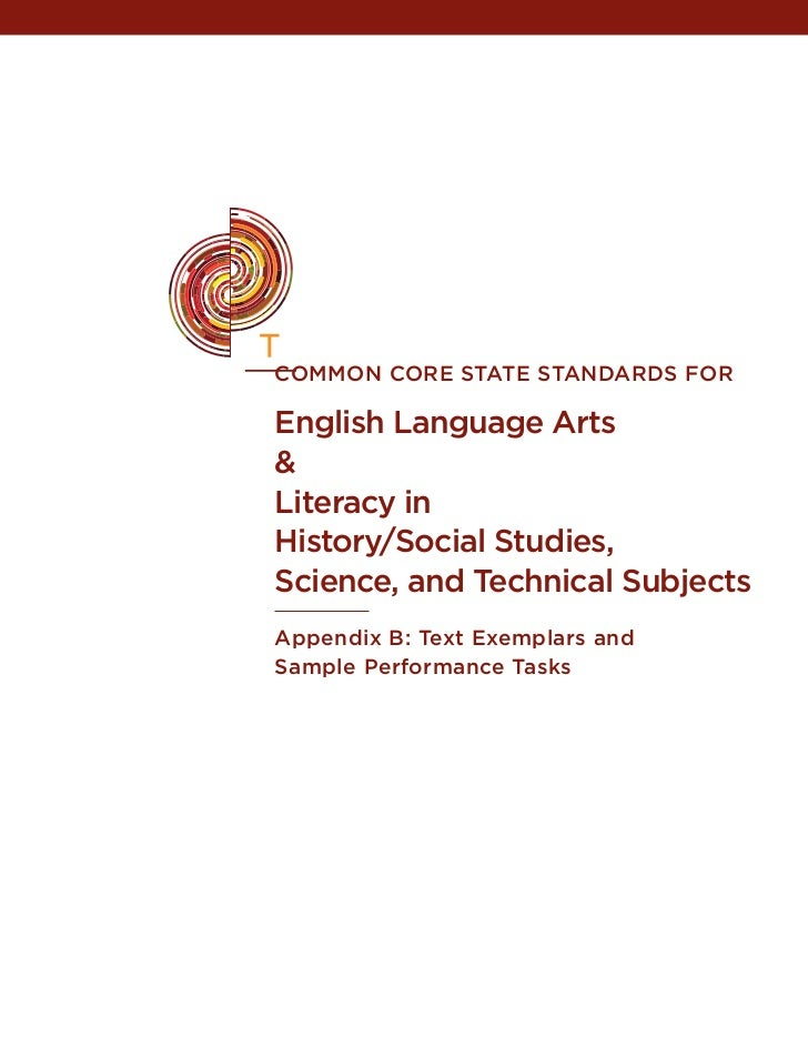 common core state STANDARDS FOREnglish Language Arts&Literacy inHistory/Social Studies,Science, and Technical SubjectsAppe...