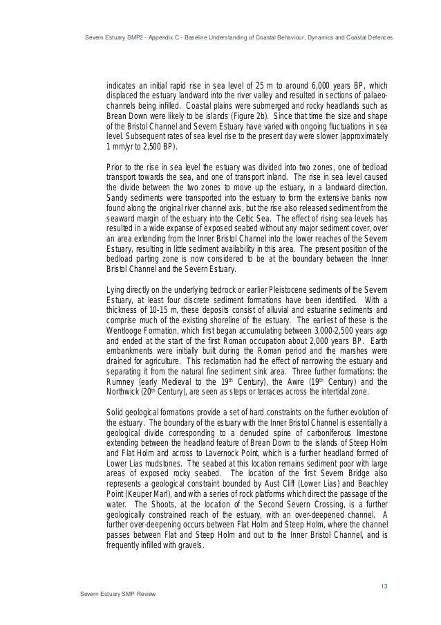 Severn Estuary SMP2 - Appendix C - Baseline Understanding of Coastal Behaviour, Dynamics and Coastal Defences 13 Severn Es...