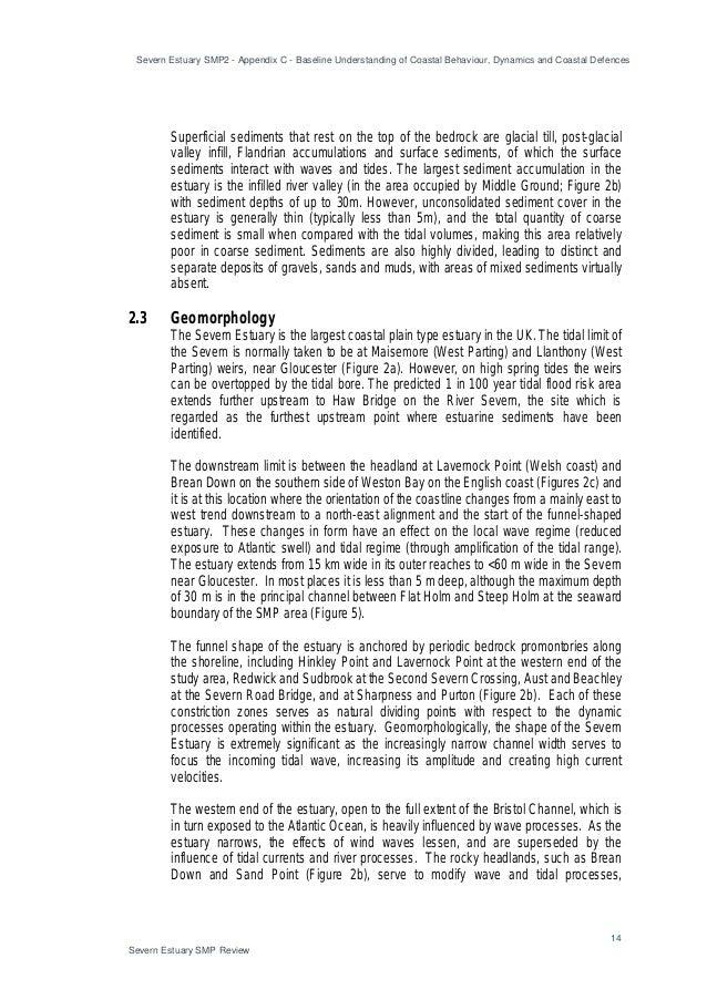 Severn Estuary SMP2 - Appendix C - Baseline Understanding of Coastal Behaviour, Dynamics and Coastal Defences 14 Severn Es...