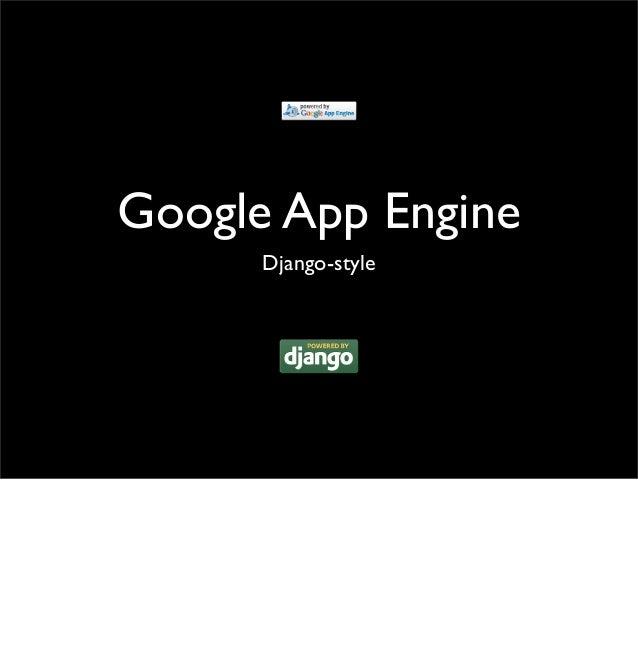 Google App Engine Django-style