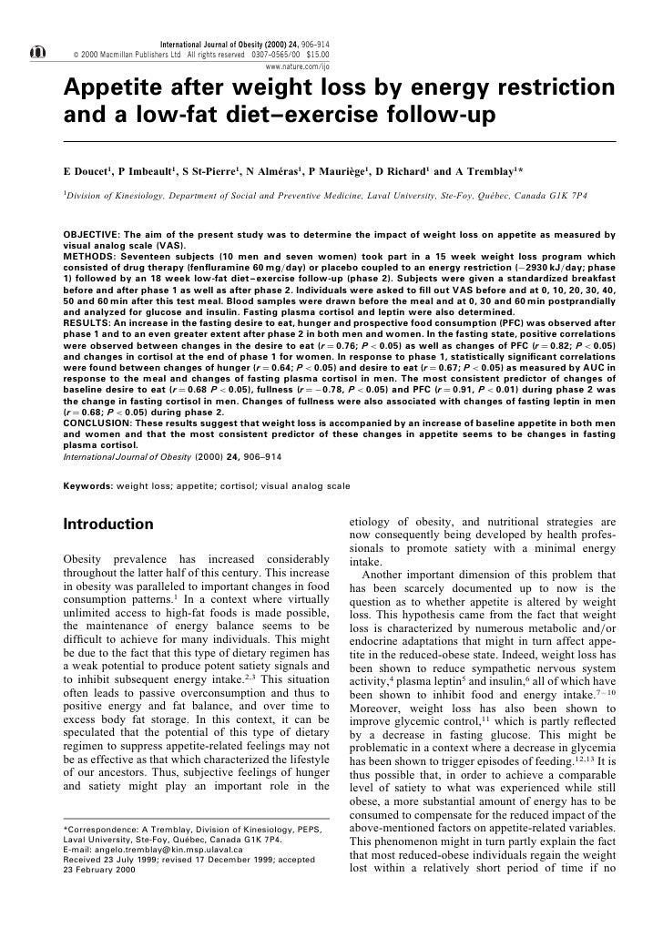 International Journal of Obesity (2000) 24, 906±914     ß 2000 Macmillan Publishers Ltd All rights reserved 0307±0565/00 $...