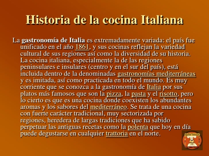 Appetito ristorante for Historia de la gastronomia pdf