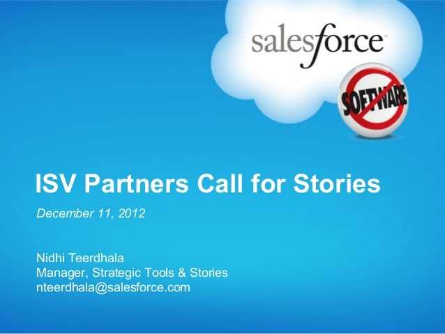 Customer Stories Submission Process for AppExchange Partners