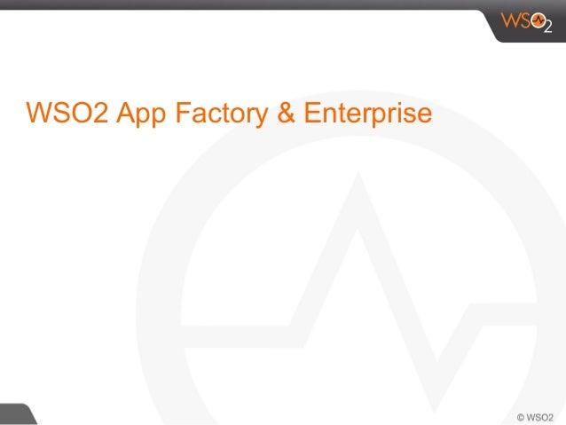 WSO2 App Factory & Enterprise