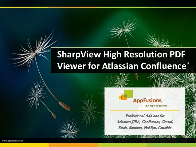 SharpView High Resolution PDF Viewer for Atlassian Confluence® Professional Add-ons for Atlassian JIRA, Confluence, Crowd,...